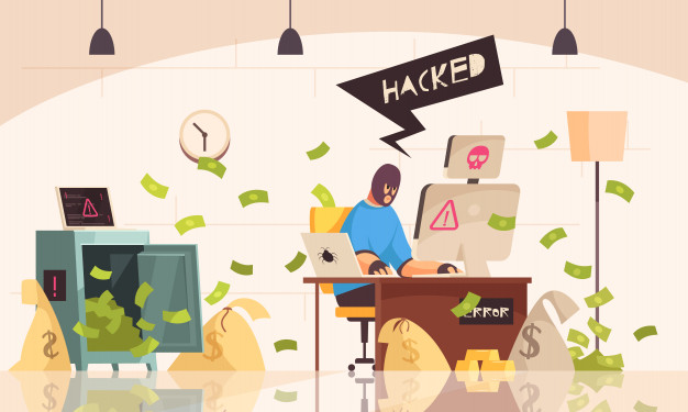 hacker-computers-composition-with-man-in-mask-sits-in-room-and-steals-information-using-a-computer-vector-illustration_1284-30697